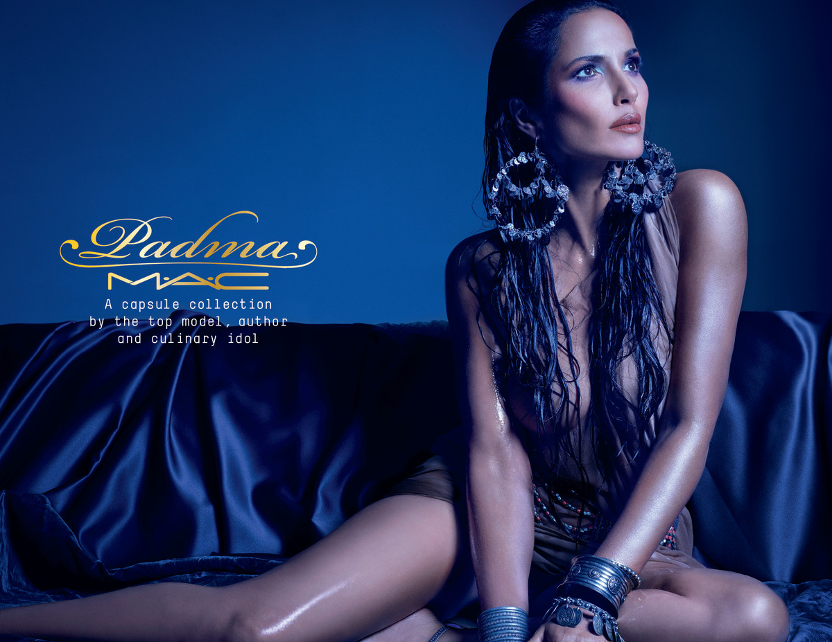Padma Lakshmi for Mac Cosmetics. Photo: Courtesy of Mac.