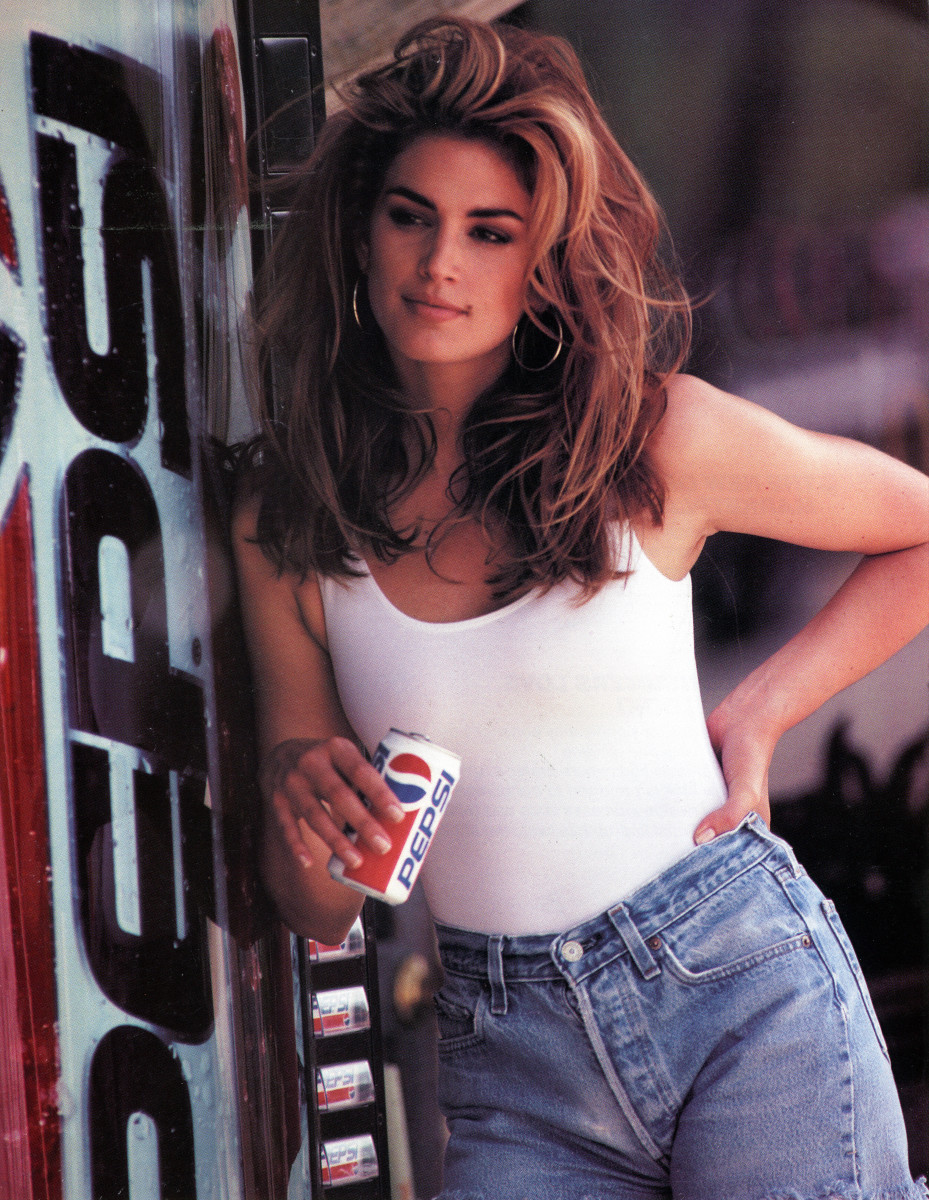 Young Cindy in a vintage Pepsi ad. Photo: Courtesy of Pepsi