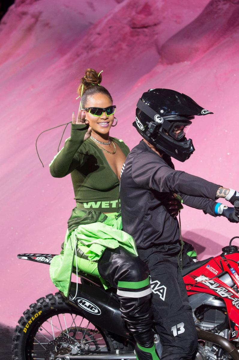 Rihanna at the Spring 2018 Fenty Puma show. Photo: Imaxtree