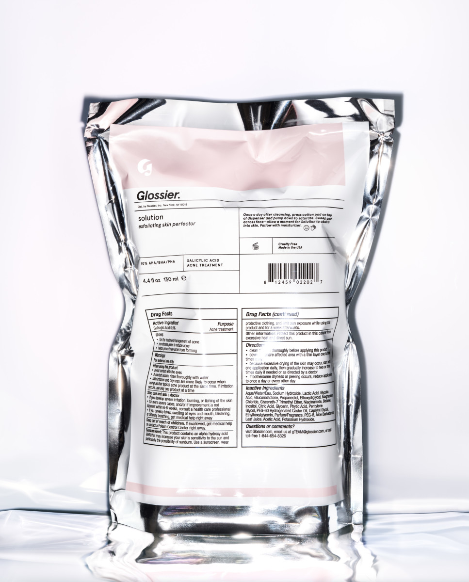 The product's clinical foil packaging. Photo: Courtesy of Glossier