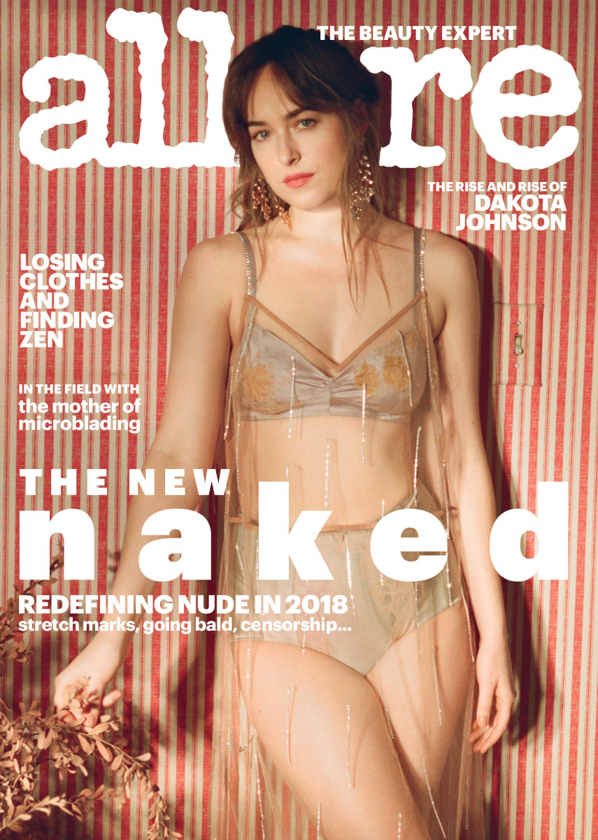 "Dakota Johnson on the cover of ""Allure""'s ""New Naked"" issue. Photo: Petra Collins for ""Allure"""