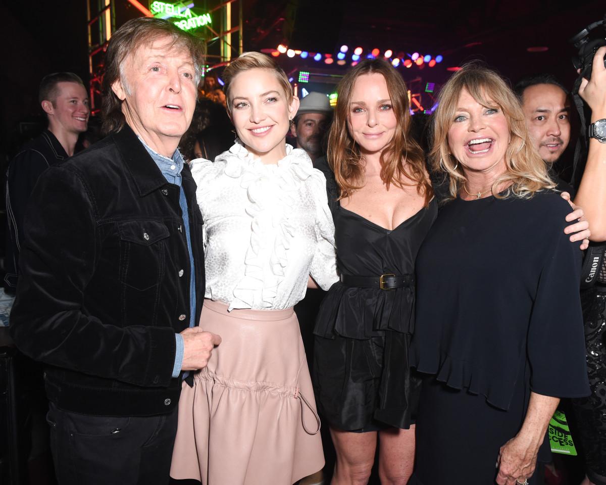Paul McCartney, Kate Hudson, Stella McCartney and Goldie Hawn. Photo: BFA