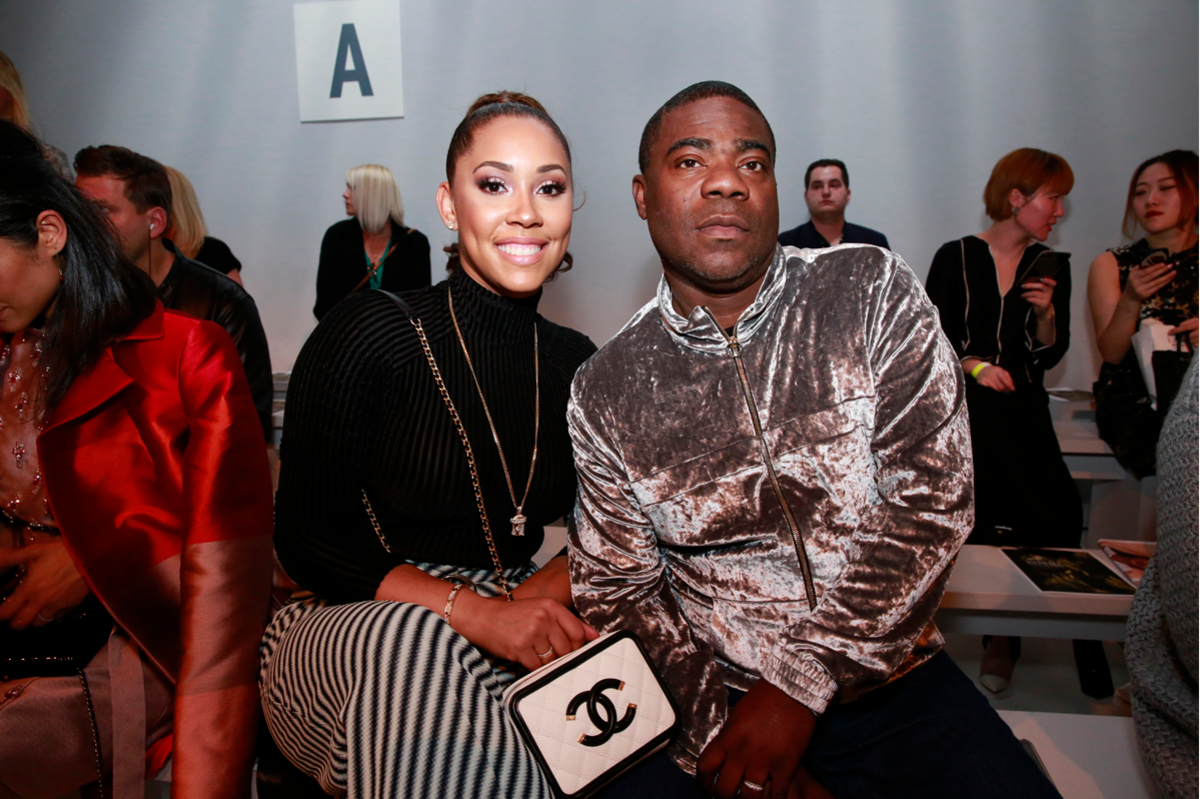 Megan and Tracy Morgan at Bibhu Mohapatra's Fall 2017 runway show, which was the best thing ever. Photo: Courtesy of Think PR