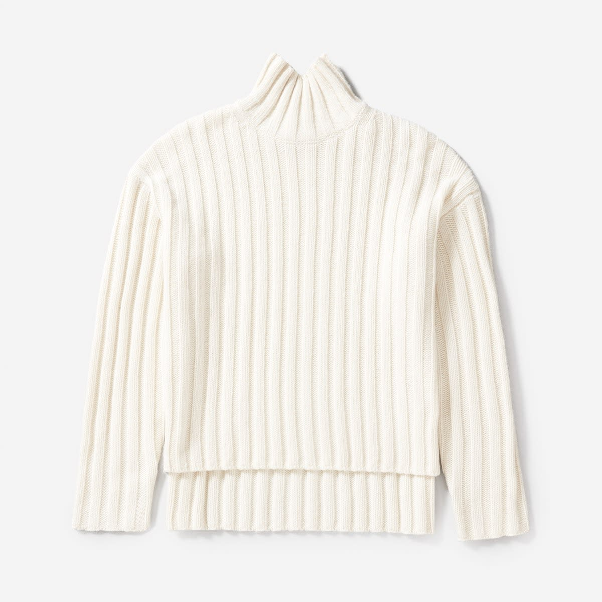 Wool-cashmere rib oversized turtleneck, $125, available at Everlane