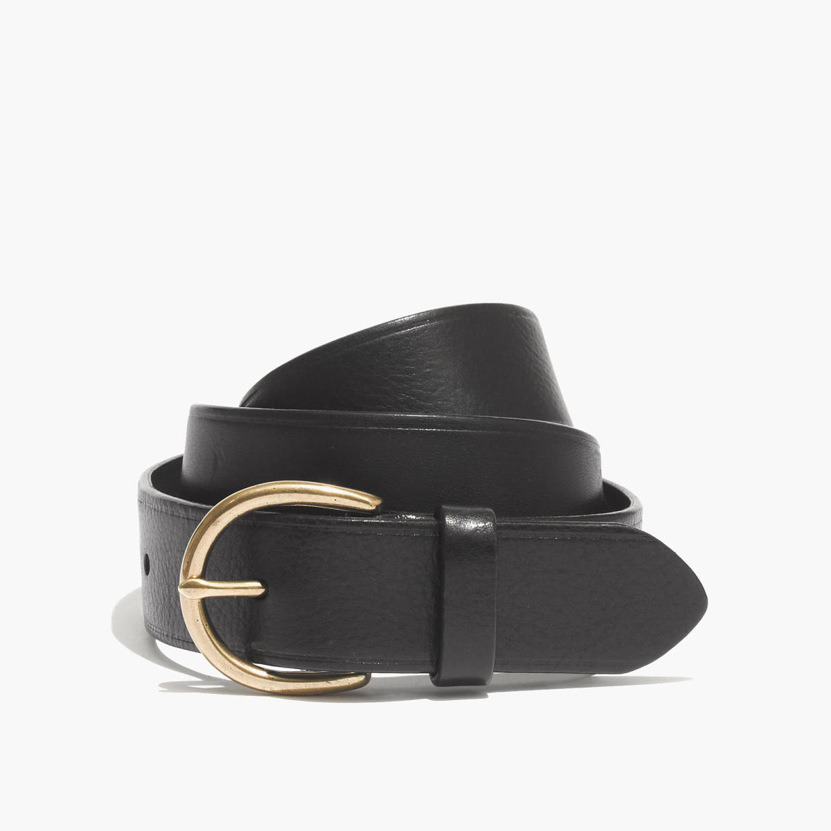 Madewell medium perfect leather belt, $45, available at Madewell