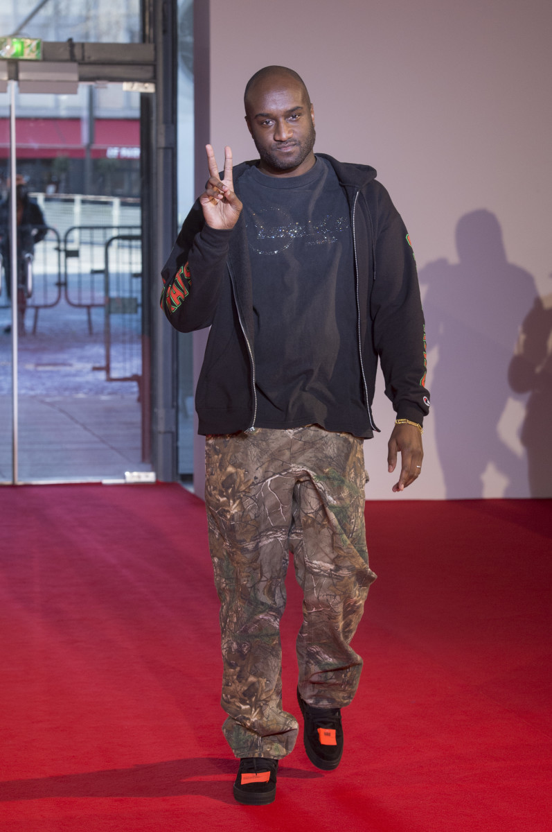 Virgil Abloh at Off-White's Fall 2018 show in Paris. Photo: Imaxtree