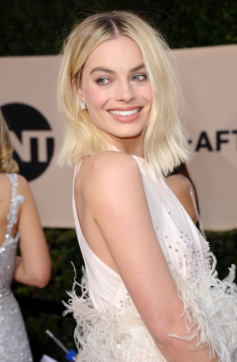 Margot Robbie at the 2018 SAG Awards. Photo: Jon Kopaloff/Getty Images