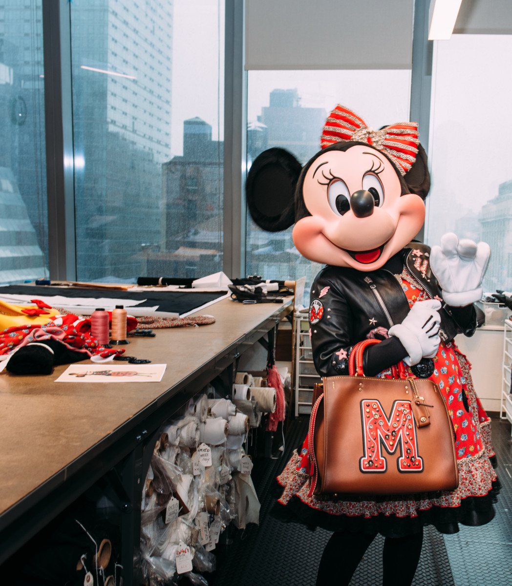 Minnie Mouse in her custom Coach design. Photo: Coach