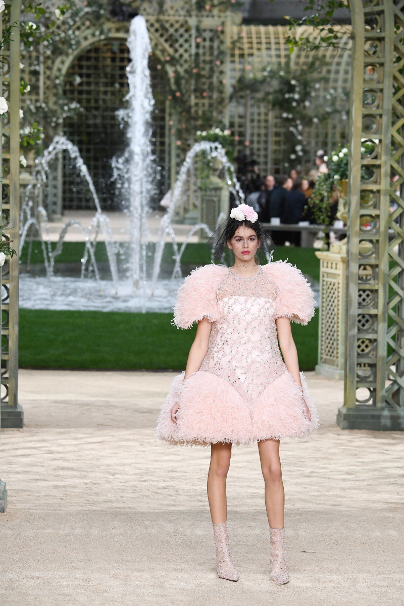 Kaia Gerber at Chanel's Spring 2018 Haute Couture show in Paris on Tuesday. Photo: Imaxtree. Photo: Pascal Le Segretain/Getty Images