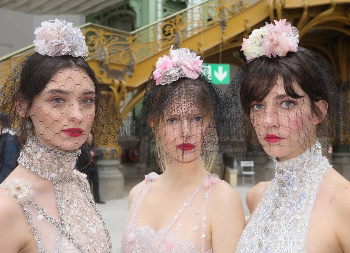 The beauty look at Chanel's Spring 2018 Couture show. Photo: @sammcknight1/Instagram