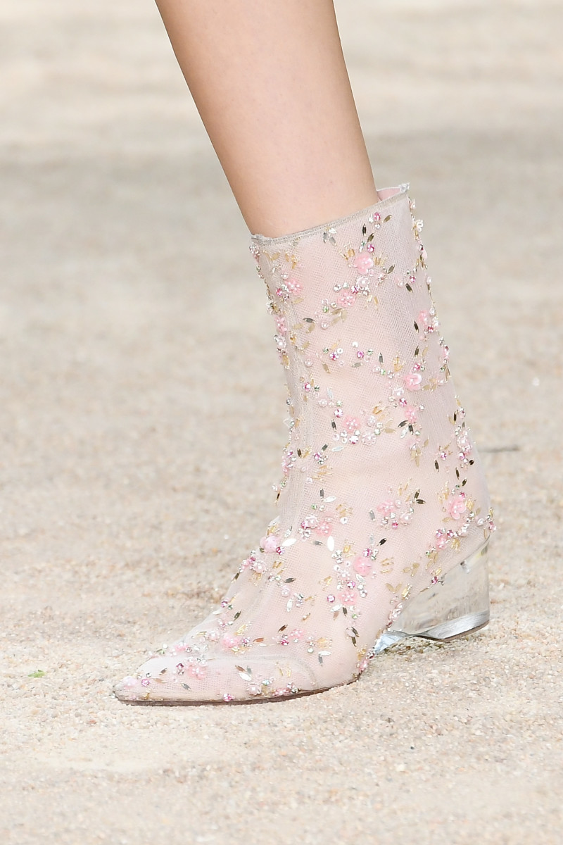 A close-up of the ankle boots worn. Photo: Dominique Charriau/WireImage