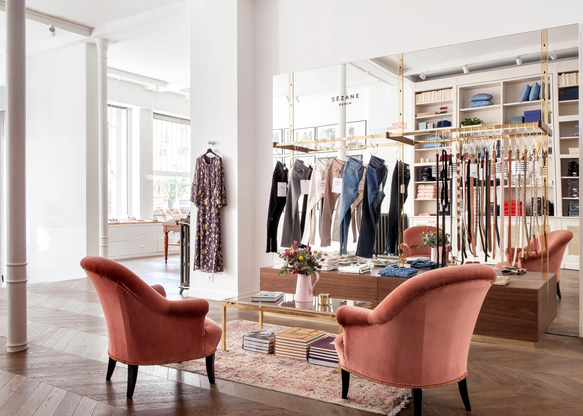 Inside Sézane's Paris boutique. Photo: Sézane