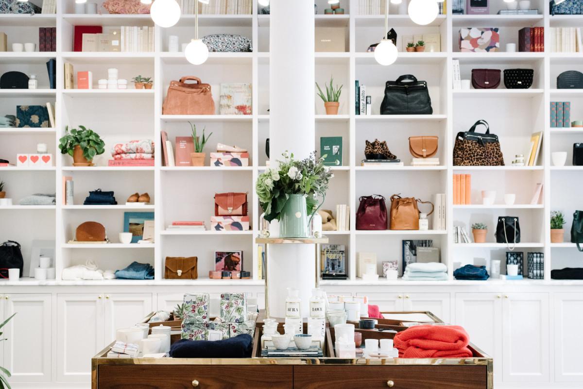 Inside Sézane's New York City boutique. Photo: Sézane
