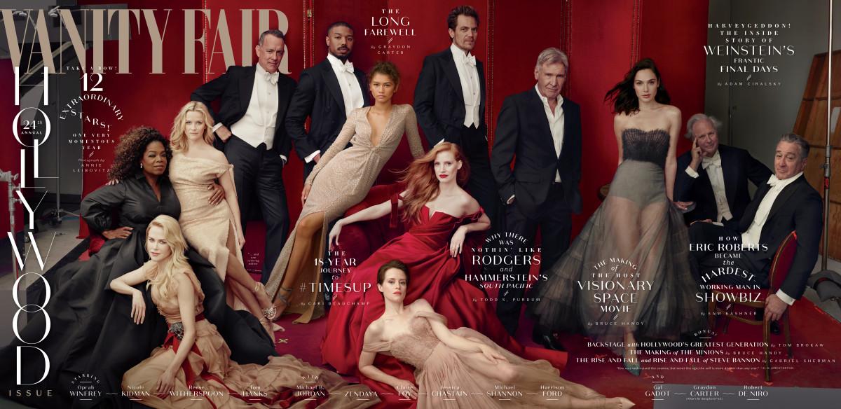 """""""Vanity Fair""""'s 2018 Hollywood Issue. Photo: Courtesy of """"Vanity Fair"""""""