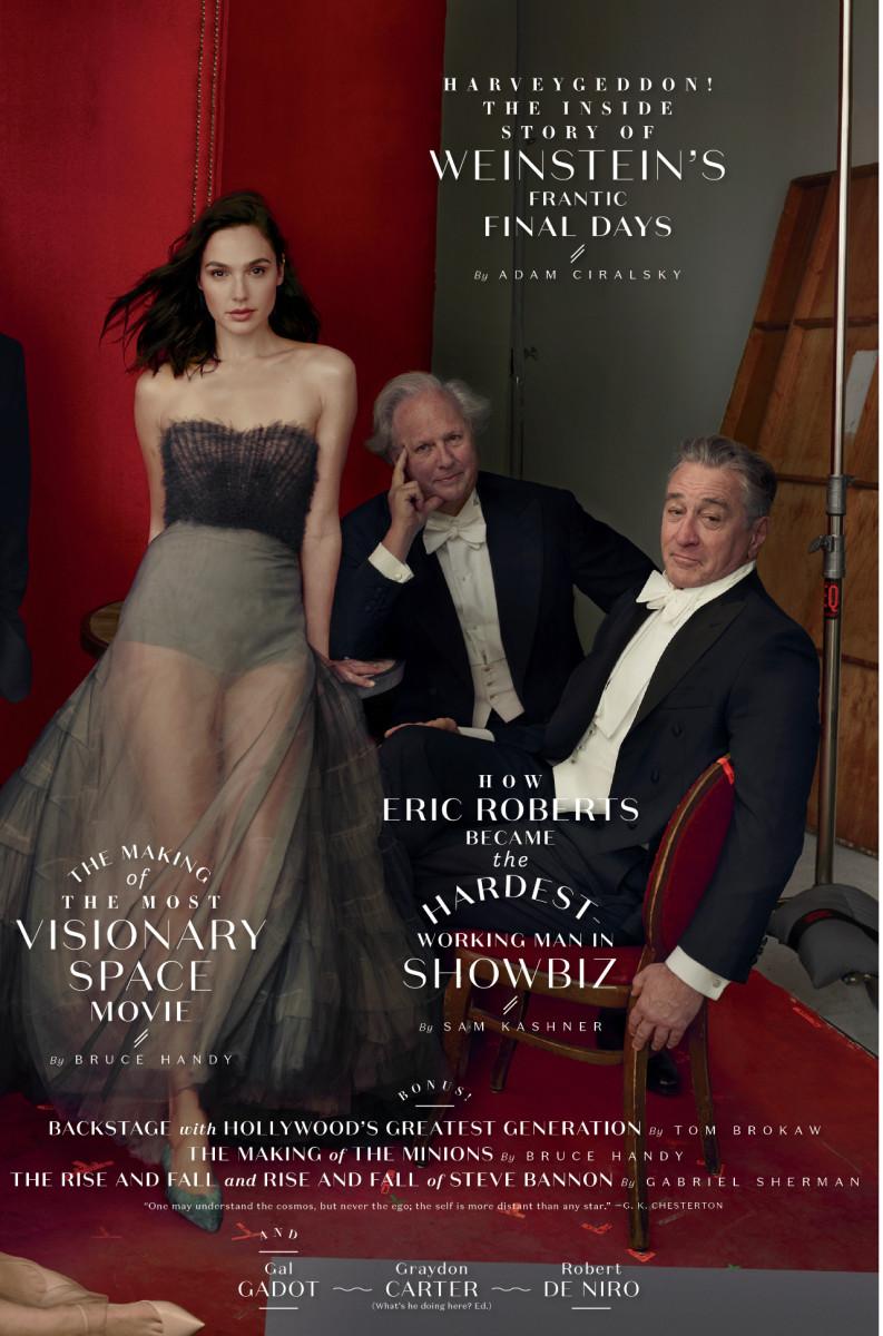 "Gal Gadot, Graydon Carter and Robert De Niro. Photo: Annie Leibovitz/""Vanity Fair"""