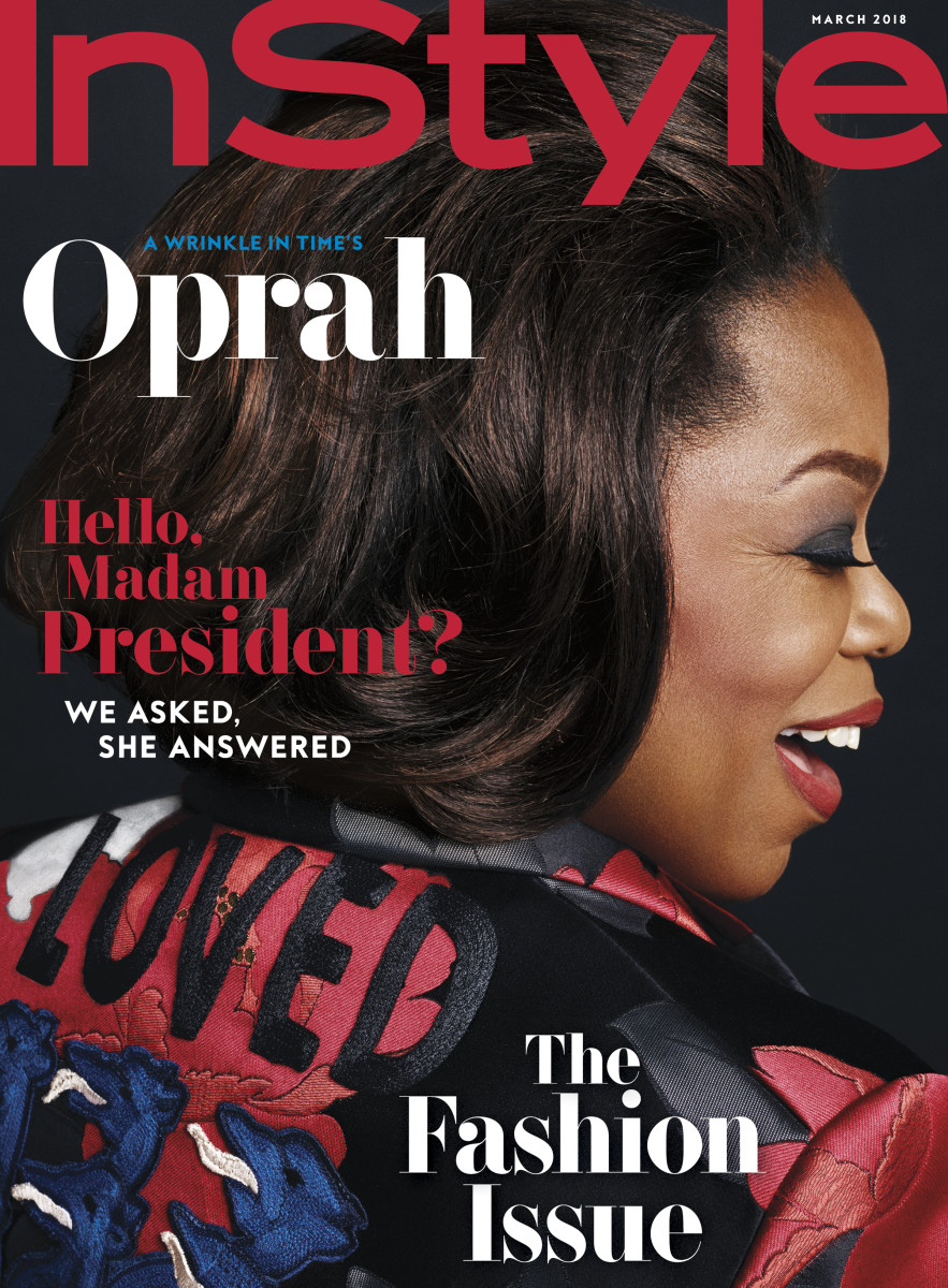 "Oprah on ""InStyle""'s March 2018 cover. Photo: Phil Poynter"