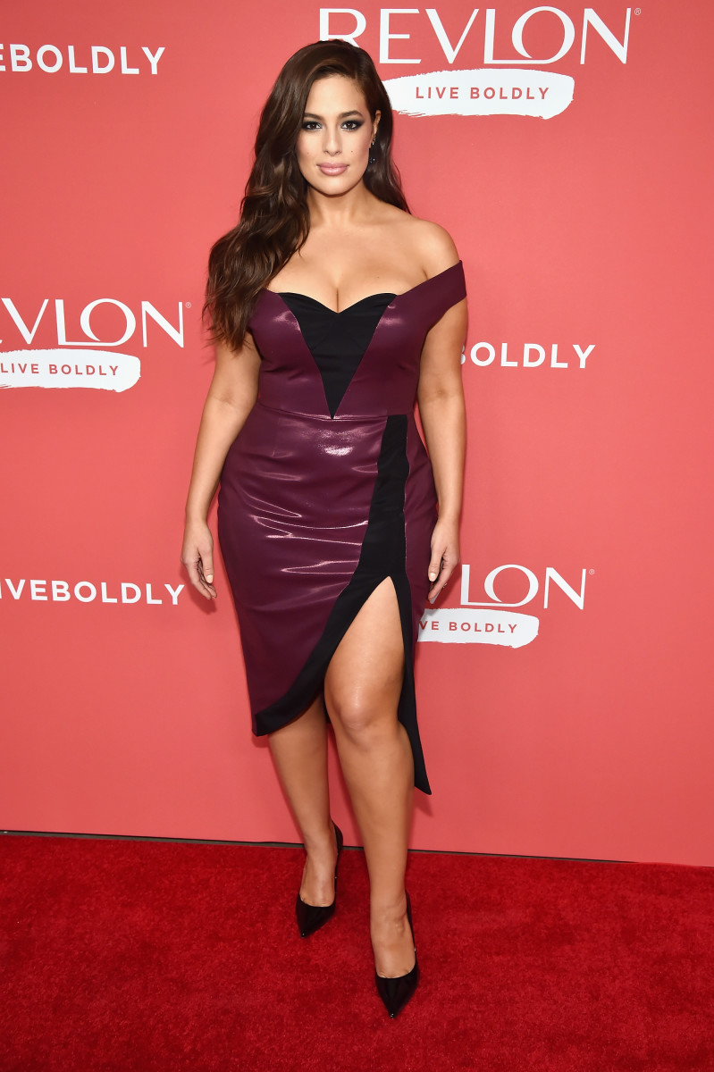 Ashley Graham in Christian Siriano. Photo: Kevin Mazur/Getty Images for Revlon