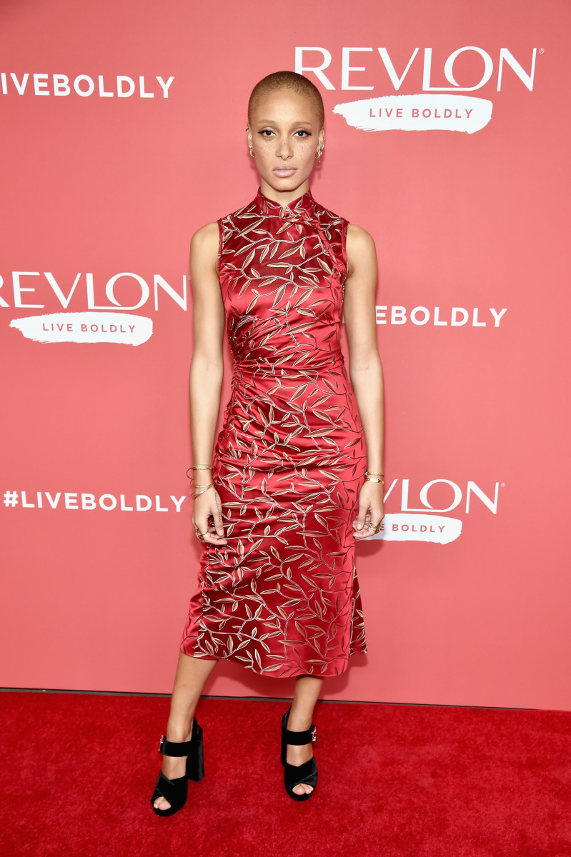 Adwoa Aboah in Prada. Photo: Kevin Mazur/Getty Images for Revlon