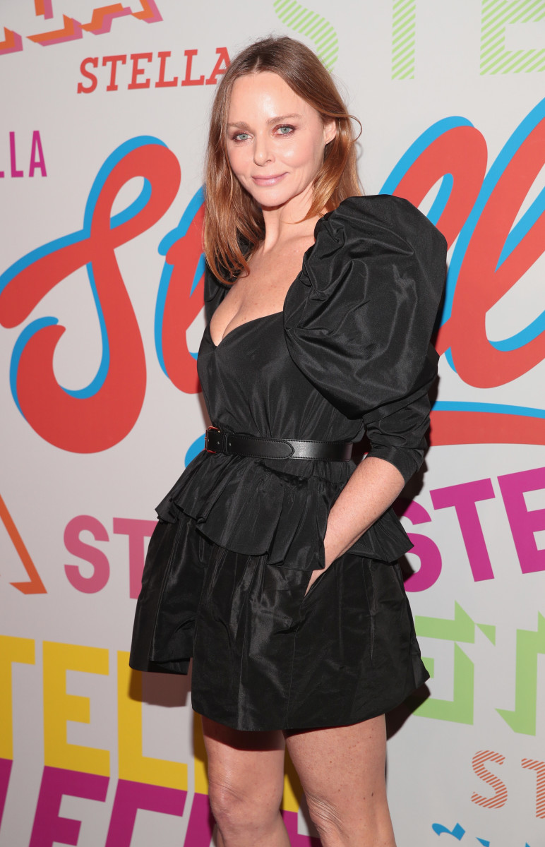 Stella McCartney at her Fall 2018 collection launch in Los Angeles. Photo: Christopher Polk/Getty Images