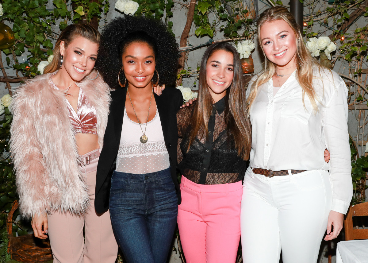 #AerieReal Role Models Rachel Platten, Yara Shahidi, Aly Reisman and Iskra Lawrence. Photo: Aerie