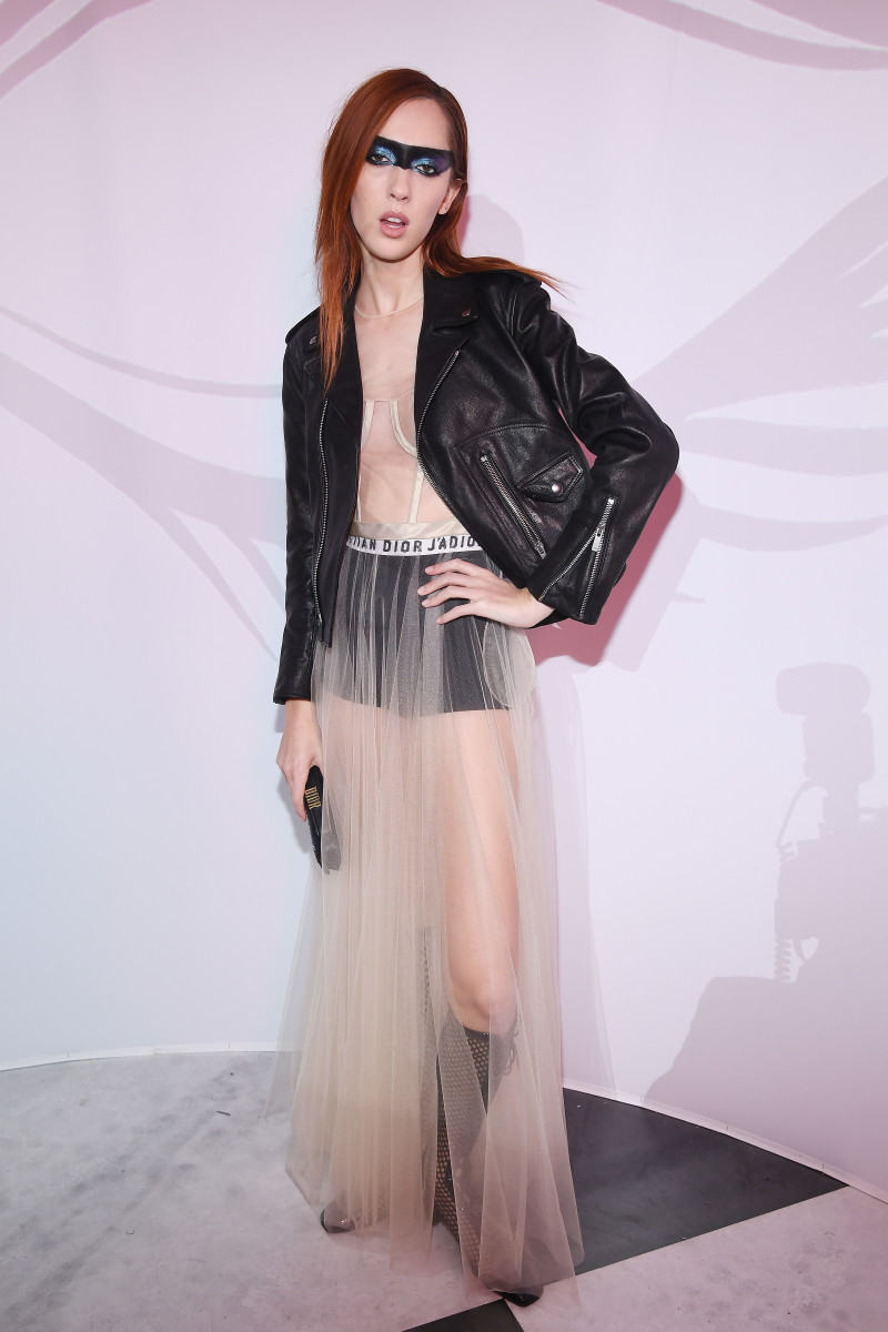Teddy Quinlivan in Dior at the Le Bal Surrealiste Dior in Paris. Photo: Pascal Le Segretain/Getty Images for Dior