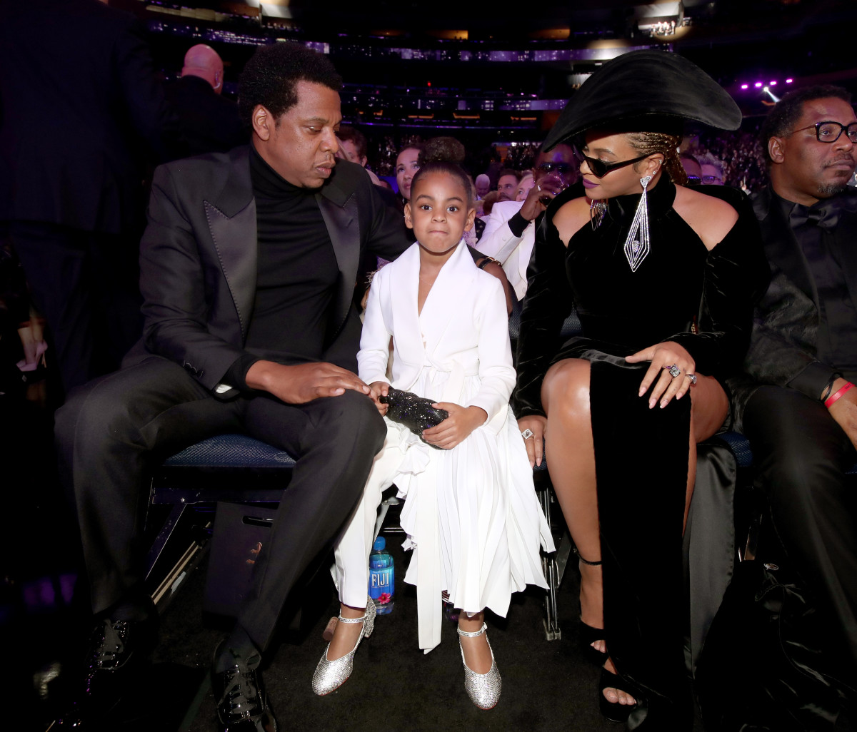 Jay Z, Blue Ivy Carter and Beyoncé. Photo: Christopher Polk/Getty Images for NARAS