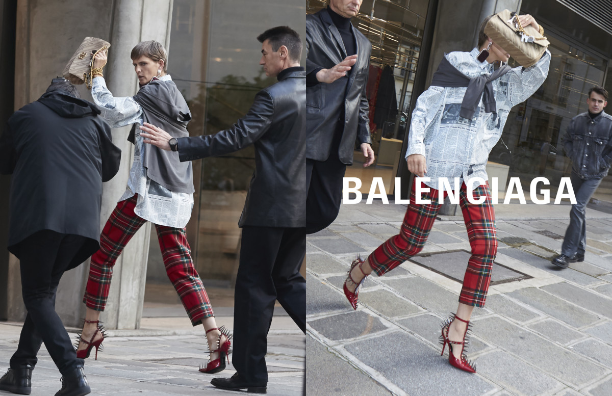 Stella Tennant for Balenciaga. Photo: Agence Bestimage