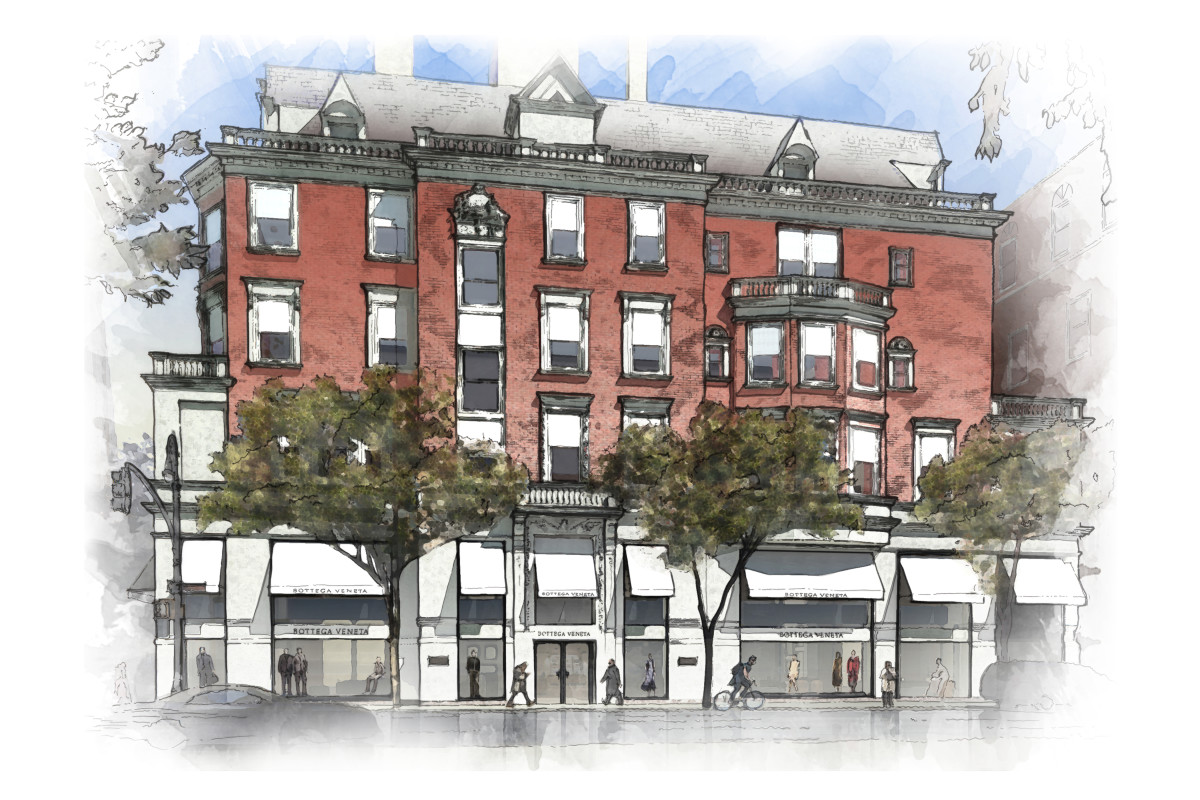 A rendering of the new Bottega Veneta Madison Avenue Maison. Photo: Bottega Veneta