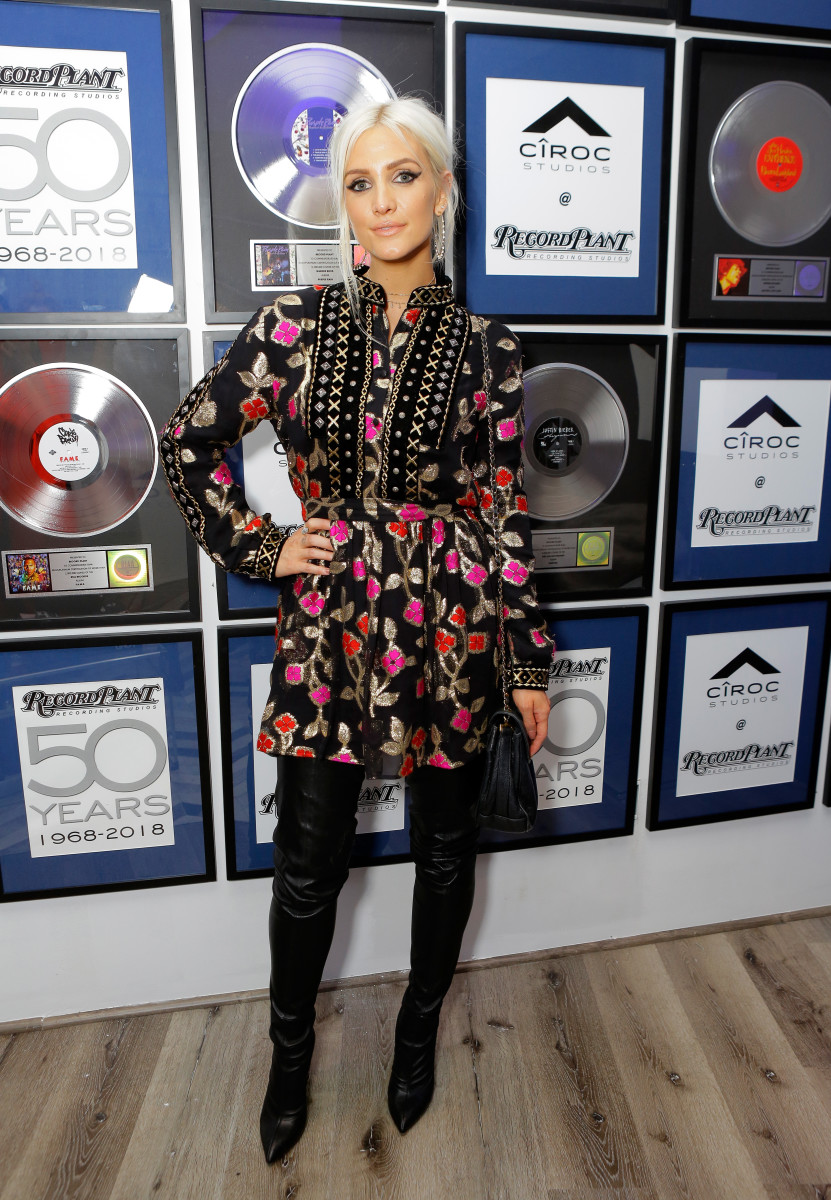 Ashlee Simpson at Ciroc Studios. Photo: Tiffany Rose/Getty Images