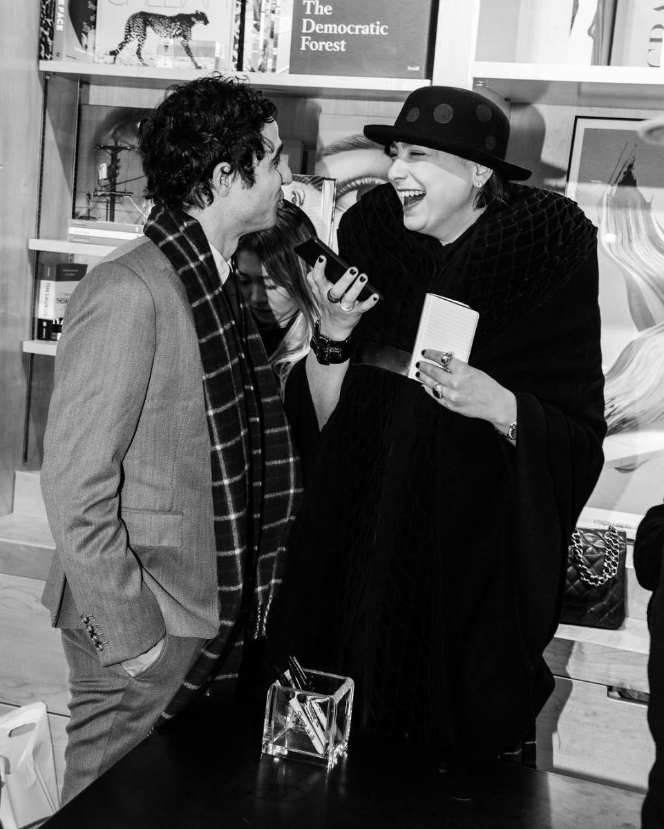 Katharine Zarrella with designer Zac Posen. Photo: @lady_kkz/Instagram
