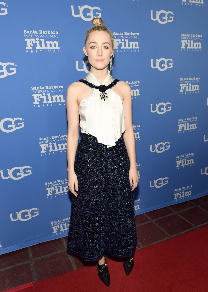 Saoirse Ronan in Chanel at the Santa Barbara International Film Festival. Photo: Matt Winkelmeyer/Getty Images