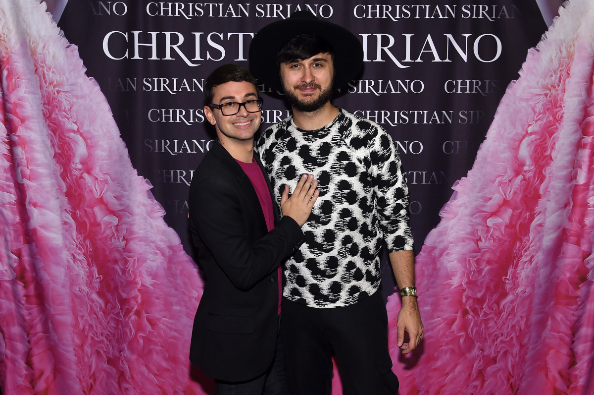 "Christian Siriano and Brad Walsh at the release of his book, ""Dresses to Dream About."" Photo: Jamie McCarthy/Getty Images"