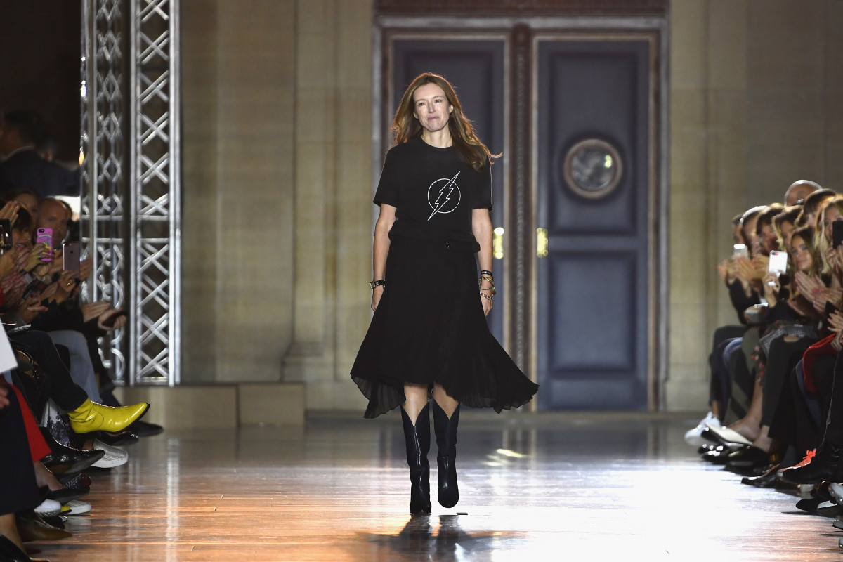 Clare Waight Keller at Givenchy's Spring 2018 runway show. Photo: Pascal Le Segretain/Getty Images