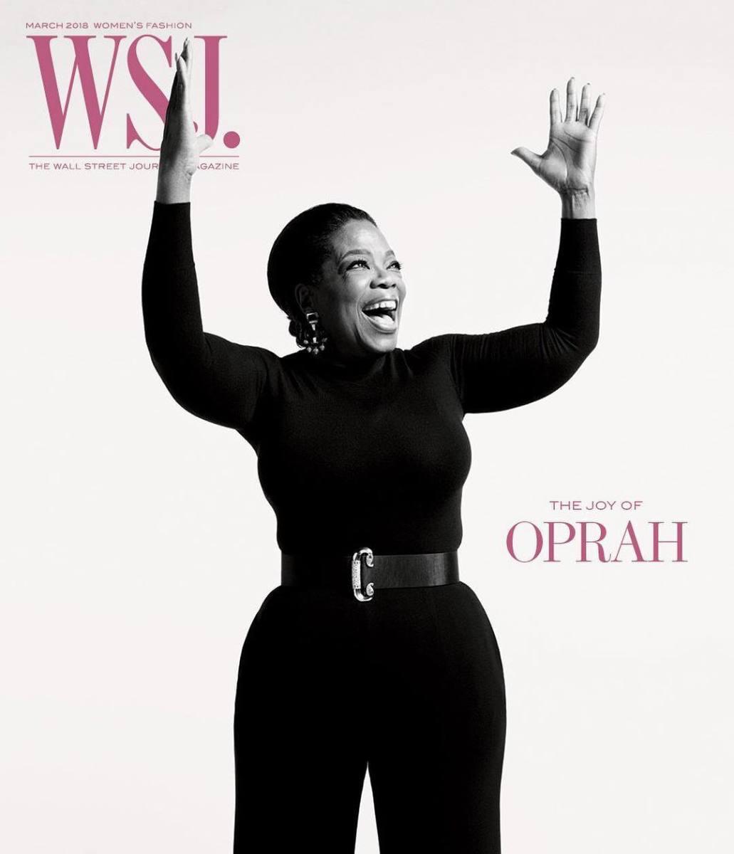 """Oprah Winfrey on """"WSJ Magazine""""'s March Fashion issue. Photo: @wsjmag/Instagram"""