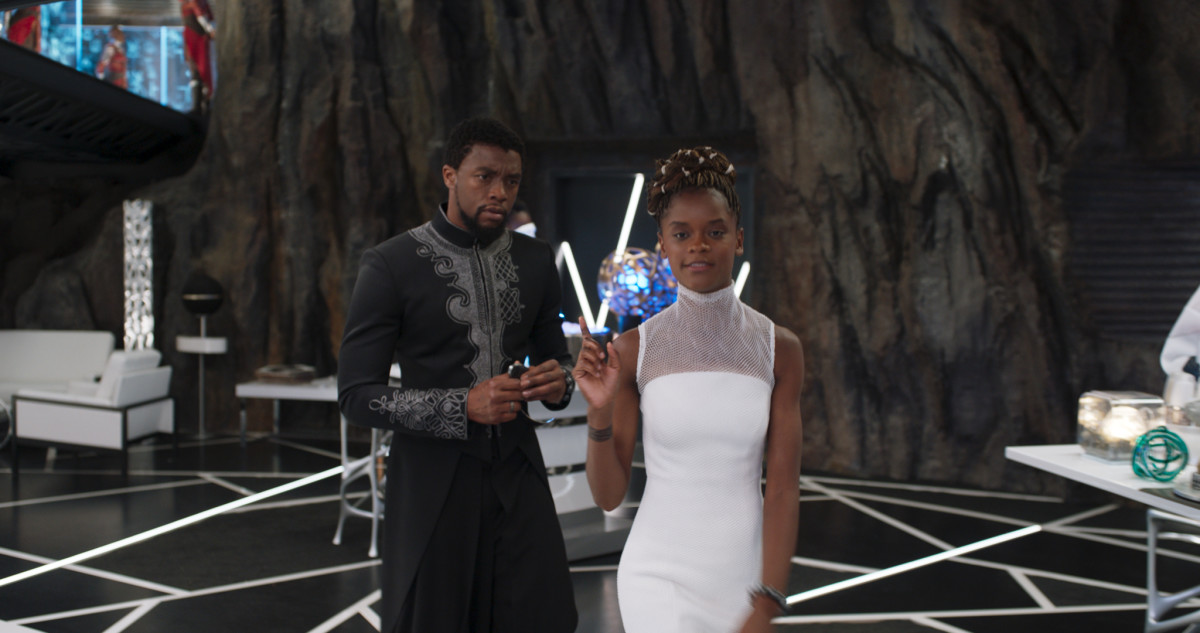 "T'Challa and Shuri (Letitia Wright). ""The white [hair accessories] are everybody's most favorite,"" says Friend. Photo: Marvel Studios"