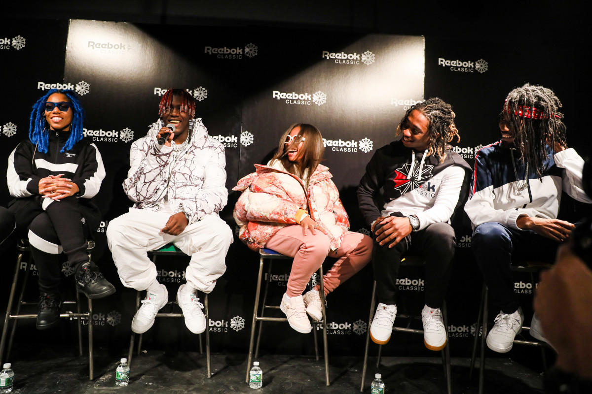 From left: Rox Brown, Lil Yachty, Kodie Shane, JBans2Turnt and Fani. Photo: Reebok