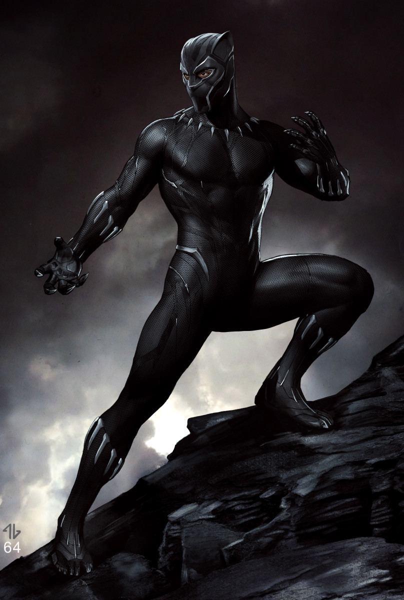 The new Black Panther suit. Illustration: Adi Granov
