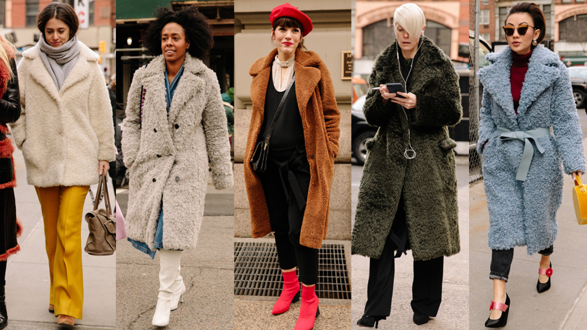 Teddy Coats Were a Street Style Hit On Day 2 of New York ...