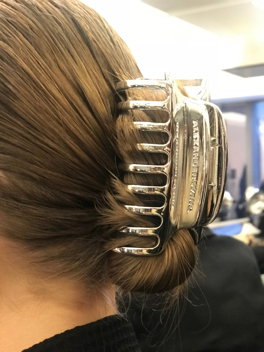 The Alexander Wang banana clip. Photo: Stephanie Saltzman/Fashionista