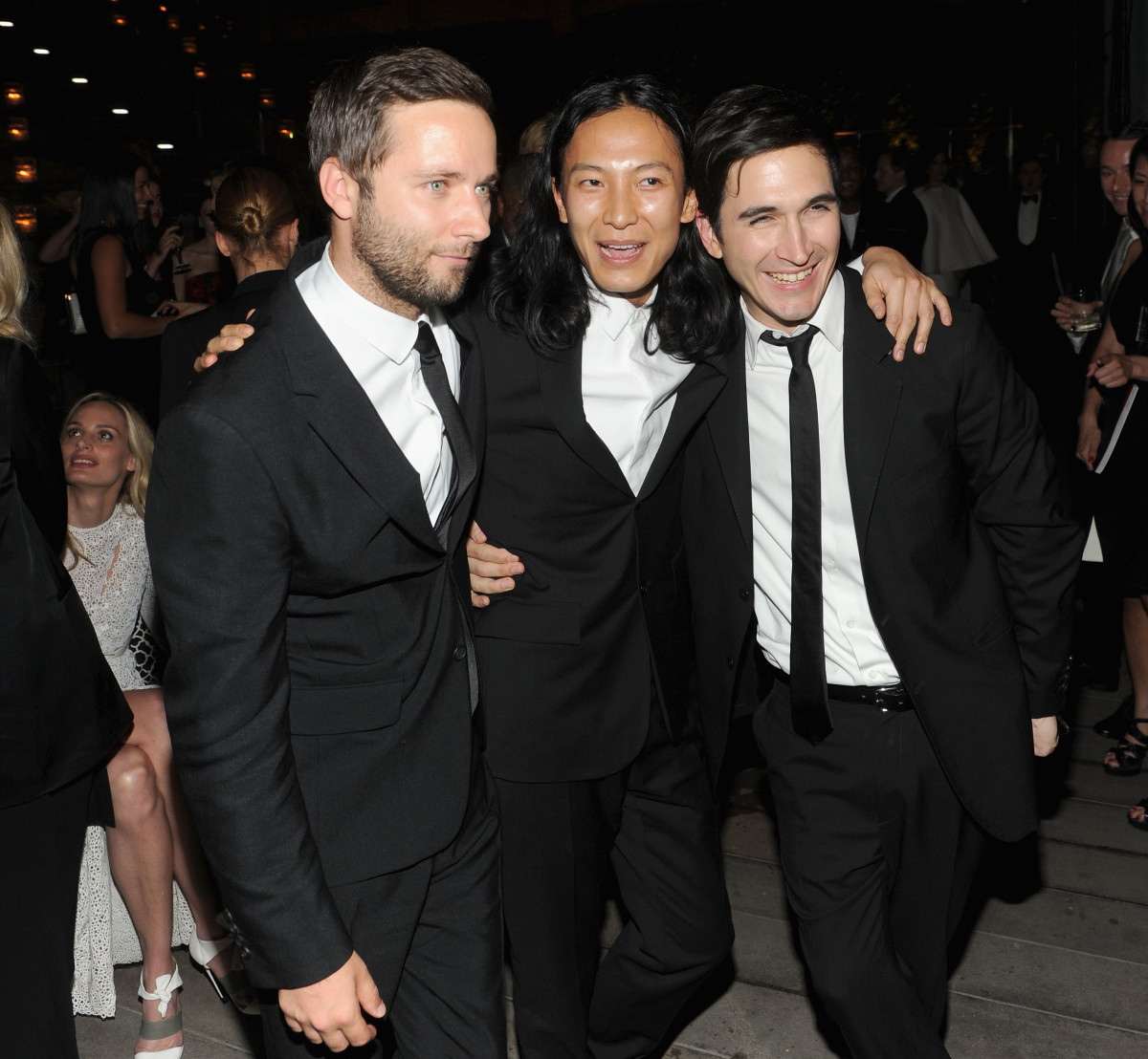McCollough, recent NYFW-defector Alexander Wang and Hernandez at the 2013 CFDA Fashion Awards. Photo: Jamie McCarthy/Getty Images