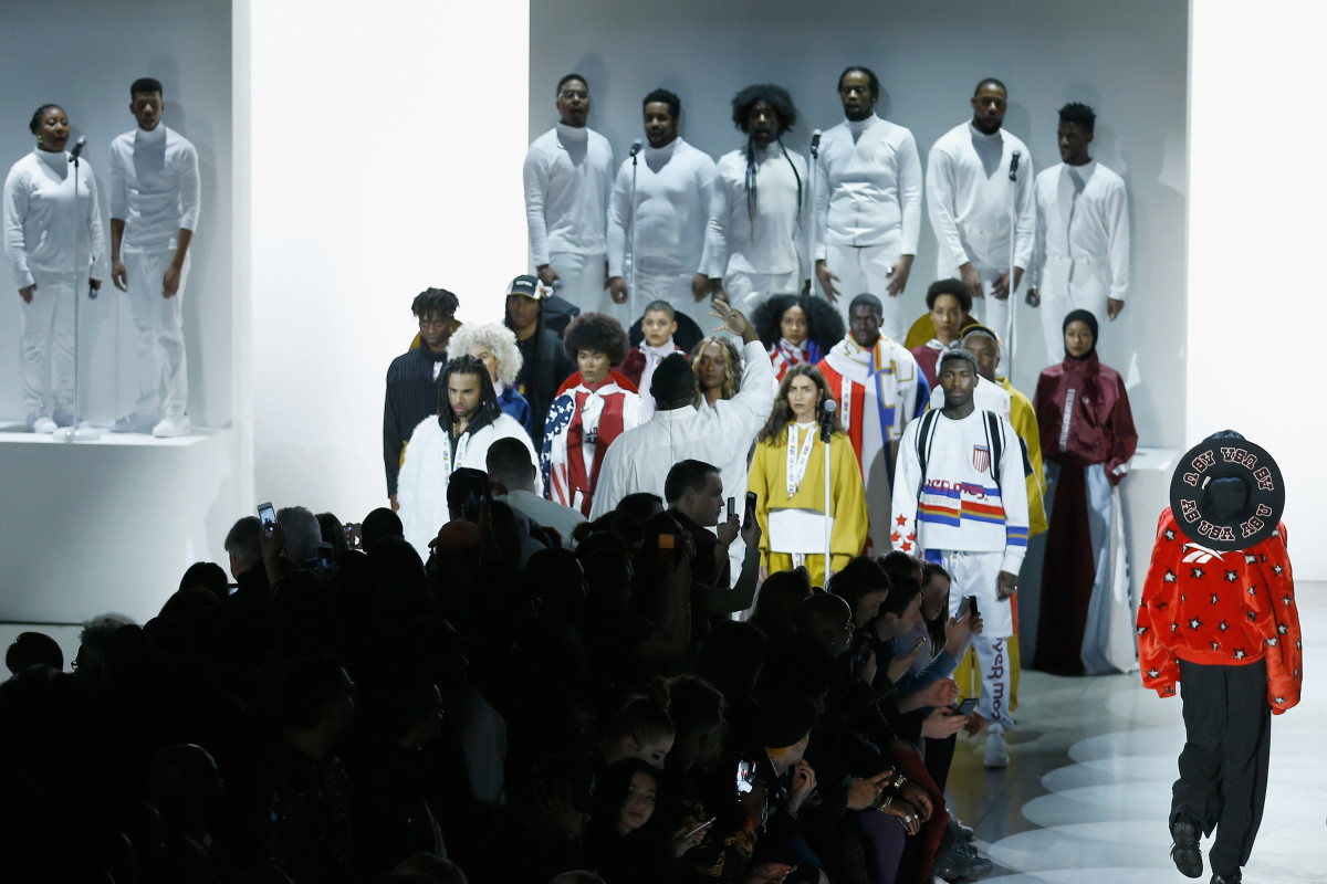 The finale from the Pyer Moss Fall 2018 show. Photo: John Lamparski/Getty Images for New York Fashion Week: The ShowsGetty Images