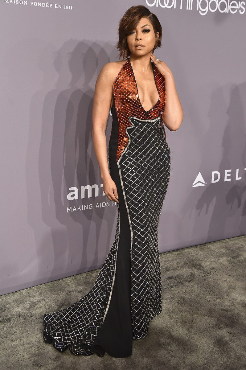 DAMN. Taraji P. Henson in David Koma, styled by Jason Bolden. Photo: Theo Wargo/Getty Images