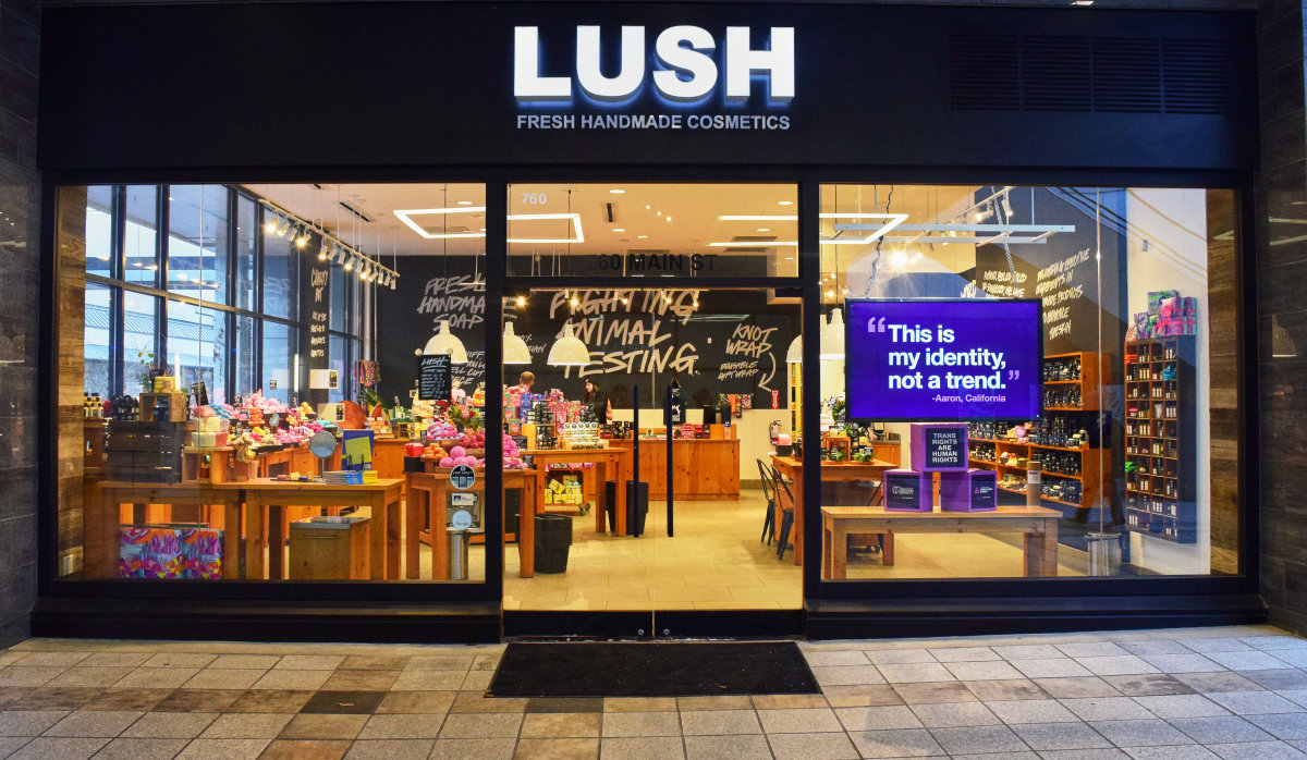 A Lush store. Photo: Courtesy of Lush