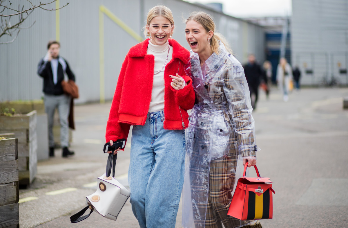 Showgoers at Copenhagen Fashion Week's Fall 2018 season. Photo: Christian Vierig/Getty Images