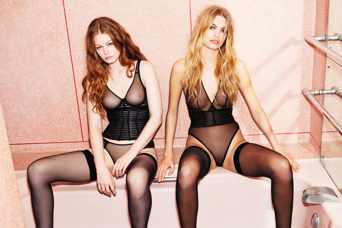 A look from Agent Provocateur's Spring 2018 lookbook. Photo: Agent Provocateur