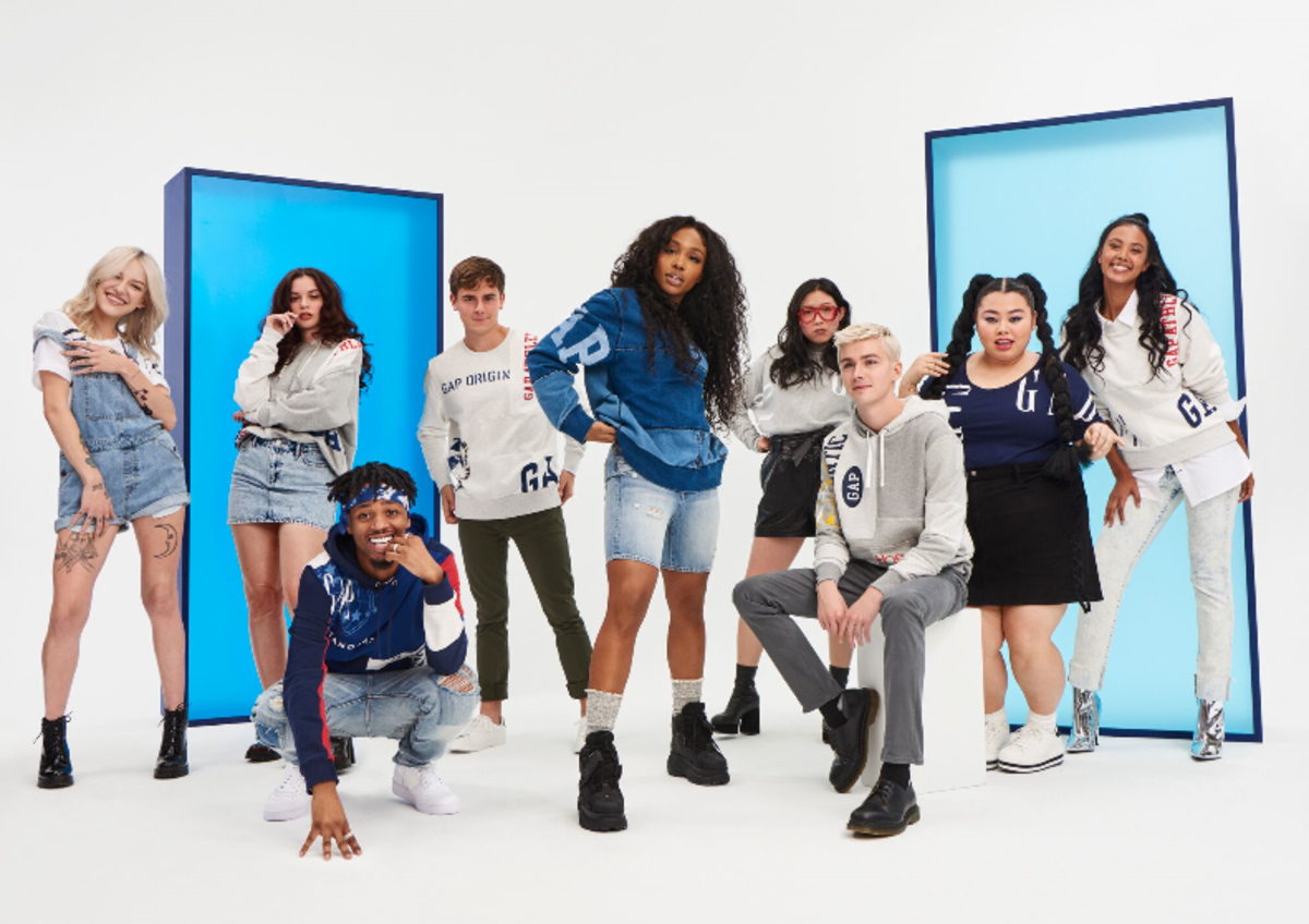Gap's new Logo Remix collection. Photo: Courtesy
