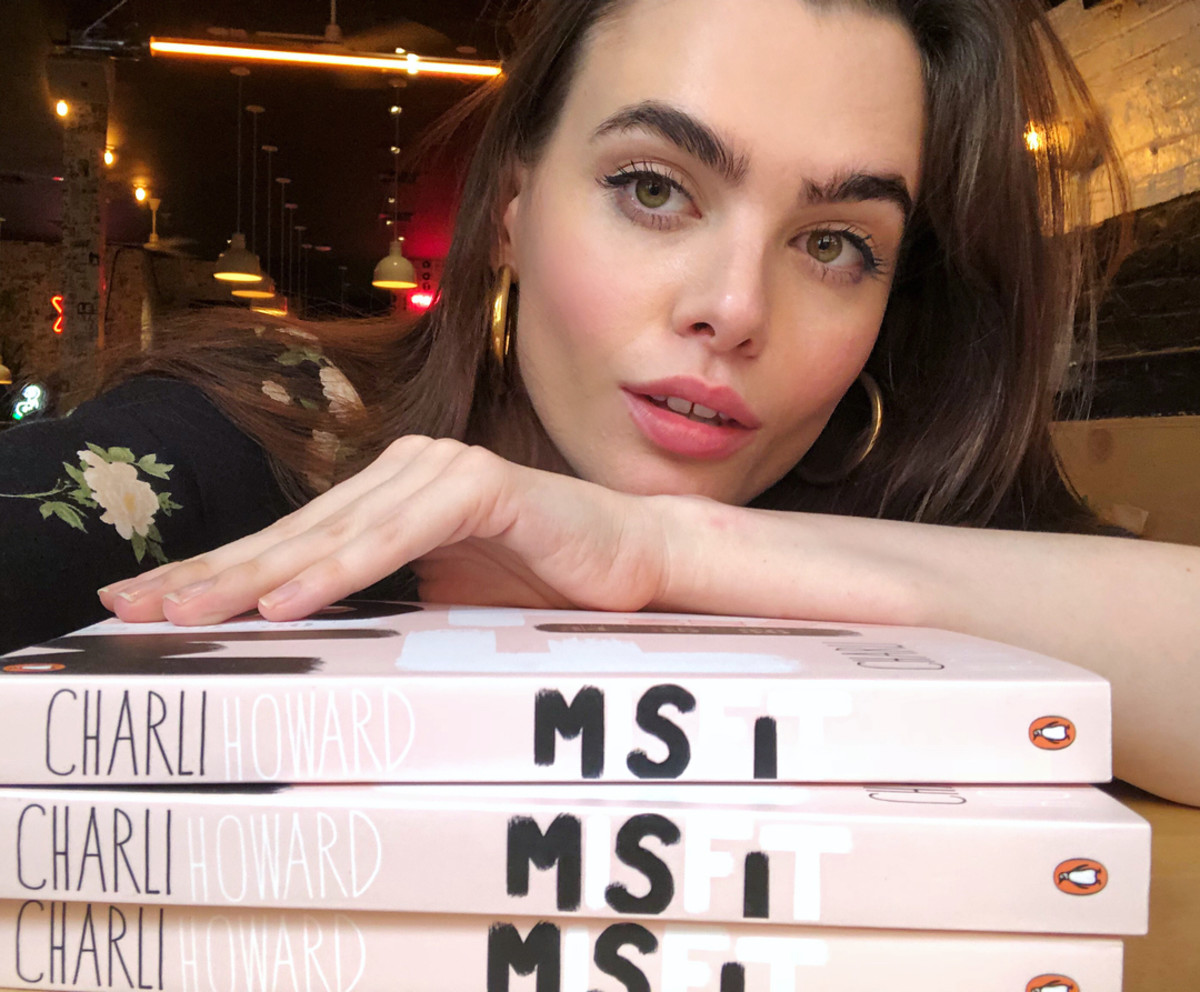 "Charli Howard and her new book ""Misfit."" Photo: @charlihoward/Instagram"