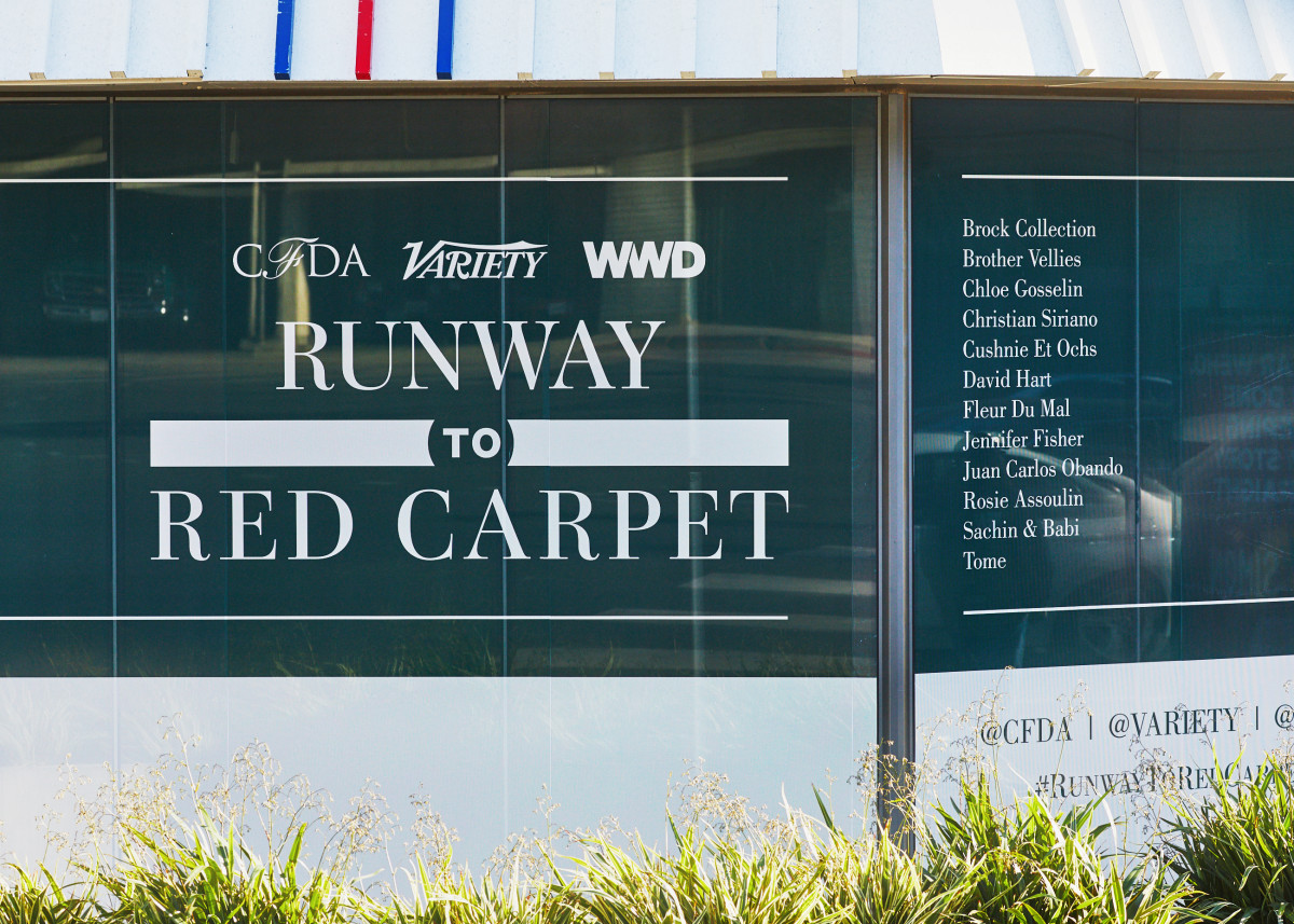 Outside the Runway to Red Carpet showroom. Photo: Courtesy