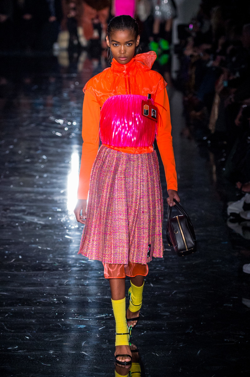 A look from Prada's Fall 2018 show. Photo: Imaxtree