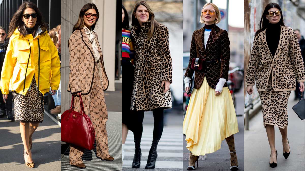 Leopard Print and Gucci Logos Took Over Street Style on ...